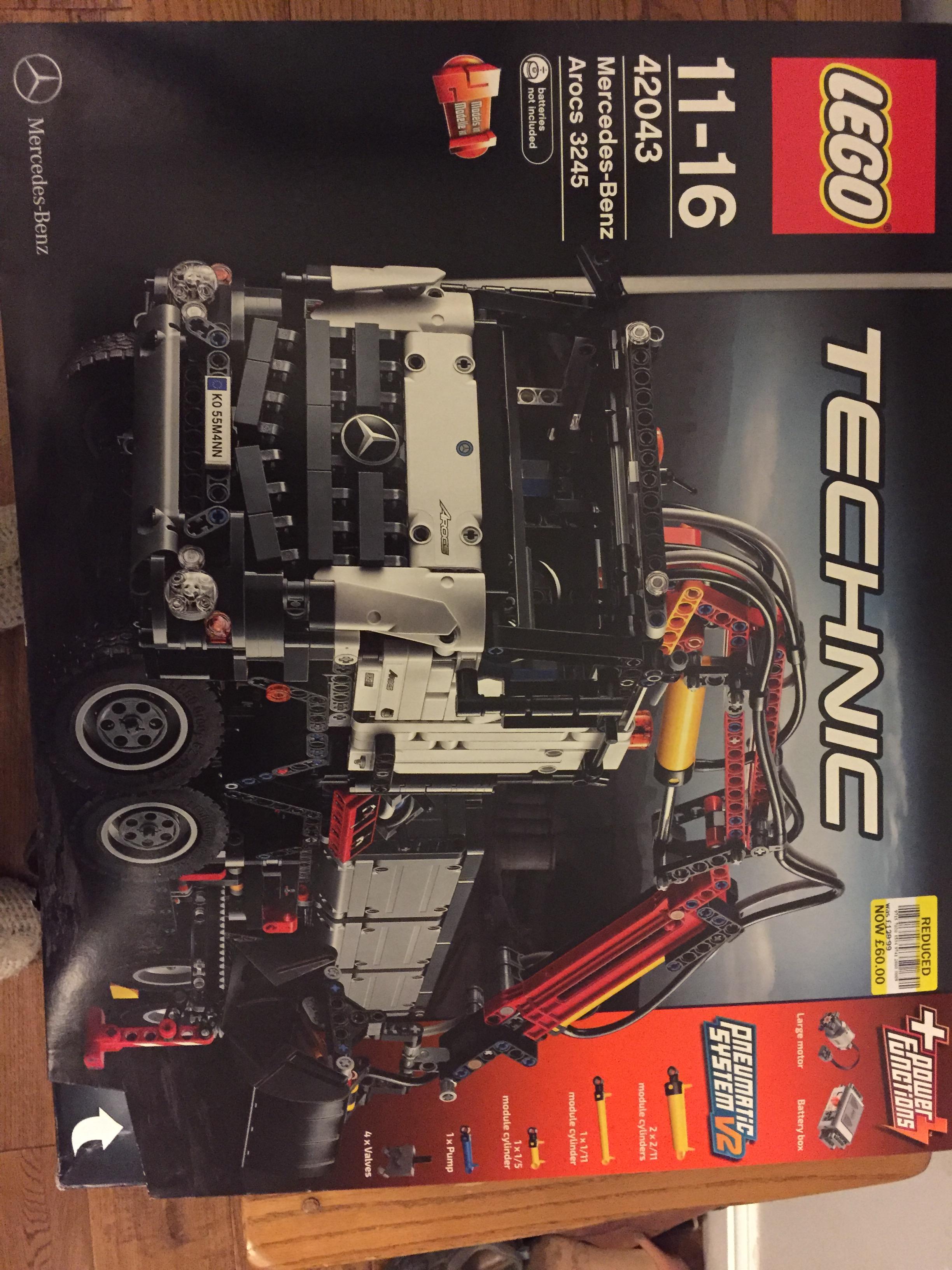 Lego Technic 42043 Mercedes Benz Arocs 3245 reduced to £60 in store Tesco (Loughborough)