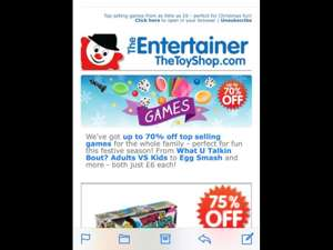 Up to 70% off Games for all ages @thetoyshop.com p/p £3.99 under £40 free thereafter