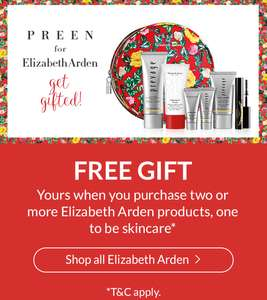 FREE Elizabeth Arden Designer Gift Set worth £104 when you purchase 2 items from Elizabeth Arden @ Debenhams (+ FREE Delivery with code)