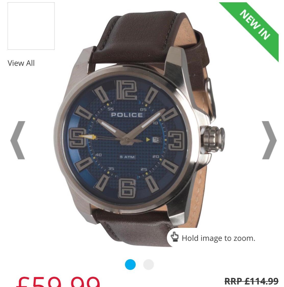 Police Mens Focus Quartz Leather was £114.99 now £59.99 + £4.49 Del @ MandM Direct