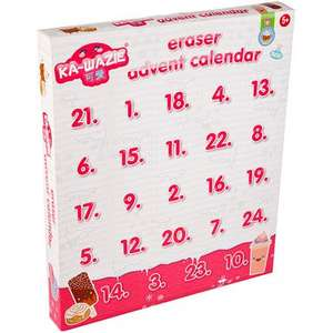 Eraser Advent Calendar was £10 now £5 instore / online at the Entertainer toy shop (minimum Spend £10 for C+C / Del £3.99 / Free wys £40)