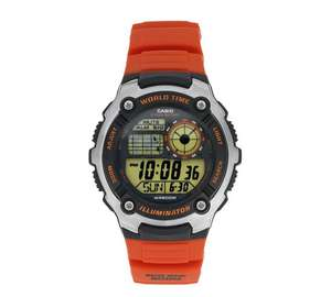 Casio AE-2100W-4AVEF Orange Strap Watch £19.99 @ Argos
