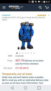 Imaginext DC Super Friends Batbot Extreme £67.19 @ Amazon (temp oos - order under other buying choices)