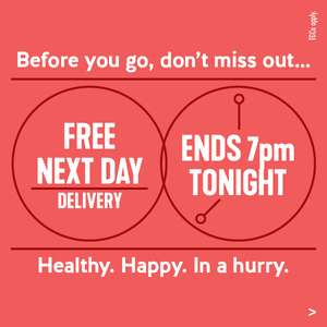 Free next day delivery on all orders until 7pm 11th Nov @ H&B
