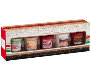 Yankee Candle 5 Votive Christmas Gift Set for £7.99 (Prime or £10.98 non-Prime)