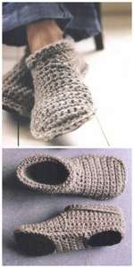 Homemade Cozy Crocheted Slippers Project