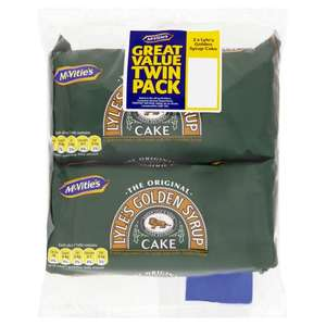 McVities Lyles Golden Syrup Cake Twin Pack 2 per pack was £1.50 now £1.00 @ Morrisons