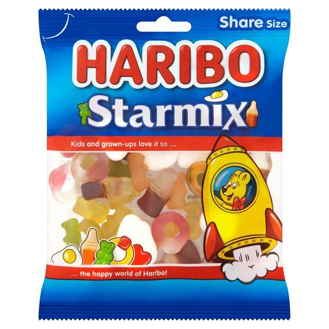 Haribo Starmix (140g) / Haribo Supermix (140g) / Haribo Squidgy Strawbs (140g) / Haribo Tangfastics (140g) were 77p now 50p a packet @ Morrisons
