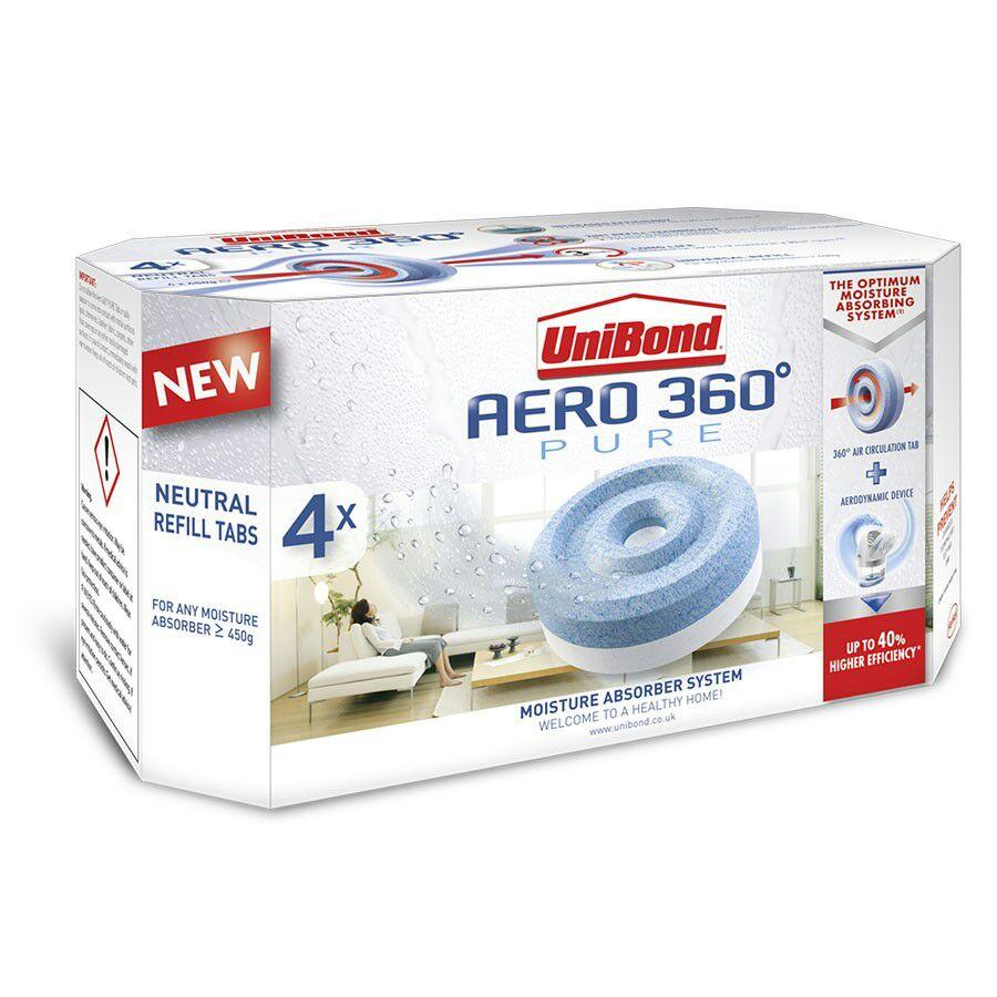 UniBond Aero 360 Refills 4 x 450g £6.79 prime / £11.54 non prime @ Amazon