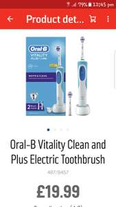 Oral-B Vitality Clean and Plus Electric Toothbrushby Oral-B £19.99 @ Argos