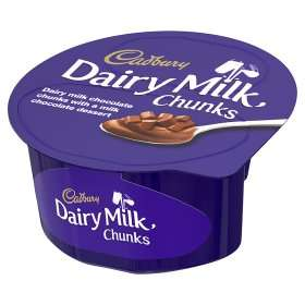 Cadbury Dairy Milk Chunks Dessert (90g) ONLY 50p​ @ Asda