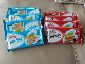 Home Bargains Balconi Wafers 45g Chocolate / Vanilla 10p BBE 4/18