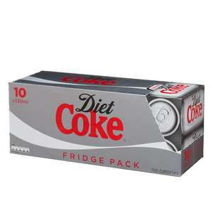 Diet Coke (10 x 330ml cans) Pack was £3.49 now £2.00 @ Poundstretcher