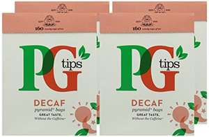 PG tips Decaf 160s PyramidTeabags 4 x 464 g (Total 640 Teabags) @ Amazon £12.00 Prime / £16.75 non-Prime