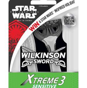 Wilkinson sword Star Wars razors - pack of 4 - instore @ Wilko for £2 (found Blackburn)