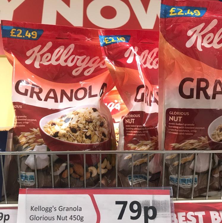 Kellogg's Granola - 450g 79p Heron in-store