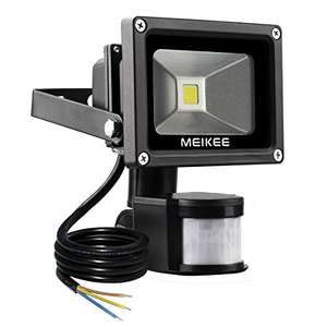 MEIKEE 10W Motion Sensor Light,Super bright LED Flood Lights, High Output 750lumen £13.50 prime / £18.25 non prime Sold by MEIKE INTERNATIONAL GROUP and Fulfilled by Amazon lightning deal