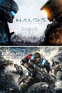 Gears of War 4 & Halo 5: Guardians bundle - XBox Live (Brazil £16.08)