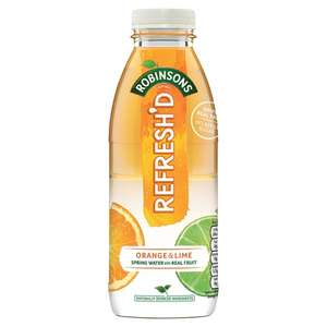 Robinsons Refresh'D Orange and Lime Drink 500ml Bottle 4 for £1 @ Home Bargains