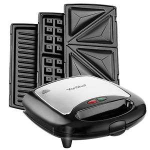 VonShef 3in1 Non-Stick Sandwich Maker Toaster Waffle Iron Press & Grill Free P&P  £19.99  ( was £37.99) DOMU UK / Ebay
