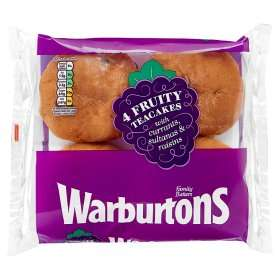 Warburtons Fruity Teacakes reduced to £0.65 at Asda but 30p cashback via TCB Snap & Save making them £0.35