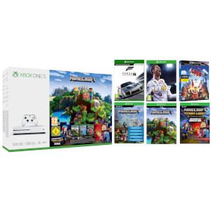 XBOX ONE S 500GB WITH MINECRAFT COMPLETE ADVENTURE, FORZA 7, FIFA 18 & THE LEGO MOVIE 4K ULTRA HD BLU-RAY £239.99 @ Zavvi