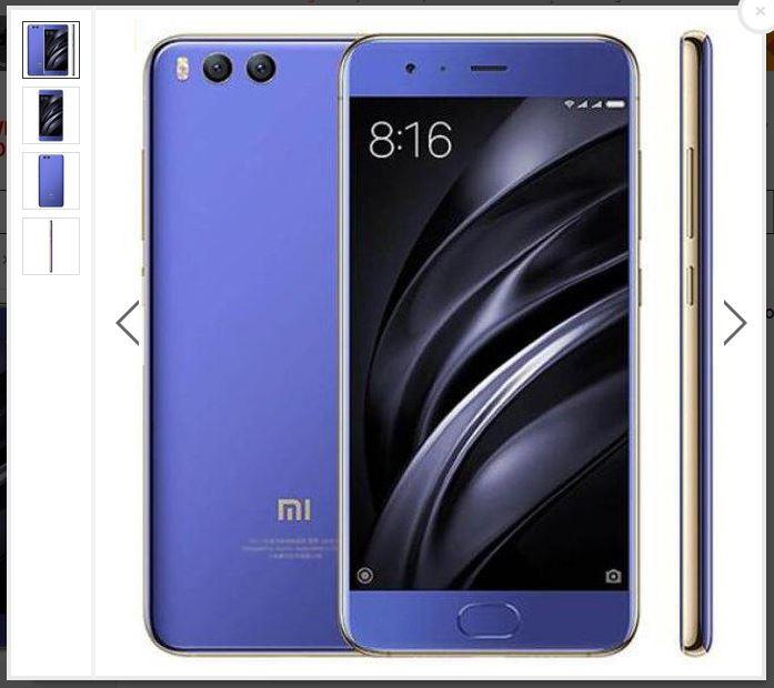 Cheapest Blue Xiaomi Mi6 Mi 6 5.15-inch 6GB RAM 128GB ROM Smartphone for £324.87 with code @ BangGood