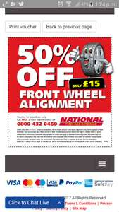 Wheel Alignment (tracking) at National for £15