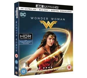 Wonder Woman UHD 4K Blu-ray £9.99. Argos