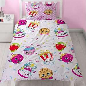 Shopkins Jumble Single Duvet Cover Set £11 at very click n collect free (little girls / kids / princesses)