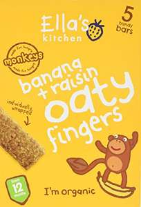 Ella's Kitchen Banana and Raisin Nibbly Fingers 25 g (Pack of 8) £4.00 @ Amazon (Add on item)