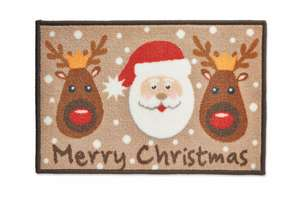 Various Washable Christmas Themed Mats - All Just £2.99 Each With Free Delivery - Pre Order Today From 10am Or Instore From The 16th @ Aldi