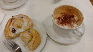 Coffee and Lemon and sultana Danish £1.35 (eat in) was £1.60, use mywaitrose card @ Waitrose Cafe