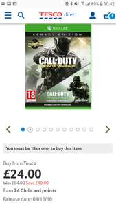 Call of Duty: Infinite Warfare Legacy Edition Xbox one £24 @ Tesco