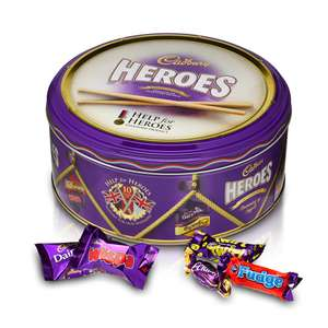 Cadbury Heroes Limited Edition Tin 1Kg Tin £7.00  @ Tesco from Monday