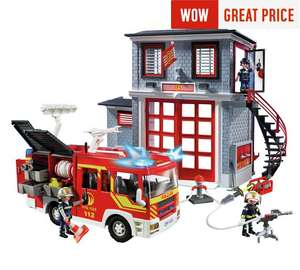 Playmobil 9052 City Action Fire Station Super Set £39.19 with code @ Argos