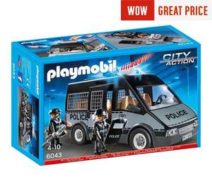 Playmobil 6043 Police Van with Sounds and Lights £15.99 with code @ Argos