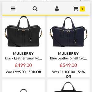 Loads of mulberry ladies handbags 40% to 55% at brand alley (extra £10 off for sign up)