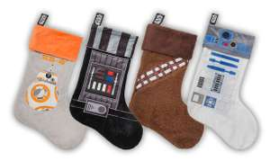 "19"" Official Star Wars Christmas Stockings 4 pack £14.99 or £5.99 each delivered  @ Merchoid"