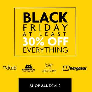 Black Friday early at Ultimate Outdoors 30% off