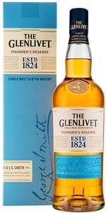The Glenlivet Founder's Reserve Single Malt Scotch Whisky (700ml) was £32.00 now £20.00 @ Morrisons