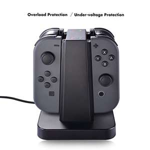 Nintendo Switch Charger Dock, Sunix 4 in 1 Charging Stand with LED indication for Nintendo Switch Joy Con with Screen protector £9.99 prime / £11.99 non prime Sold by Nexo-UK and Fulfilled by Amazon - Lightning deal