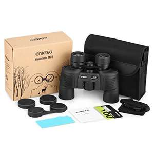 Enkeeo Binocular 7x35 Compact for Birding Wildlife Viewing, BAK-4 Prisms, Fully Multi-Coated Lens, HD Optic, Shockproof Nonslip Grips, £9.99 (Prime and Non-Prime) With Promo @ Suaoki UK, Fulfilled By Amazon