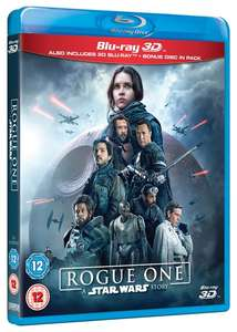Rogue One: A Star Wars Story (3D Edition with 2D Edition) [Blu-ray] £8.99 with code @ zoom