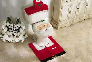 3pc Santa Toilet Seat Cover Set - £5.99 + £2.99 delivery @ Wowcher
