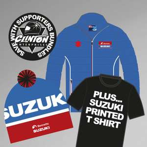 Team Suzuki Bubble Jacket Bundle (Jacket, Beanie + T-shirt) £38 @ Clinton enterprises