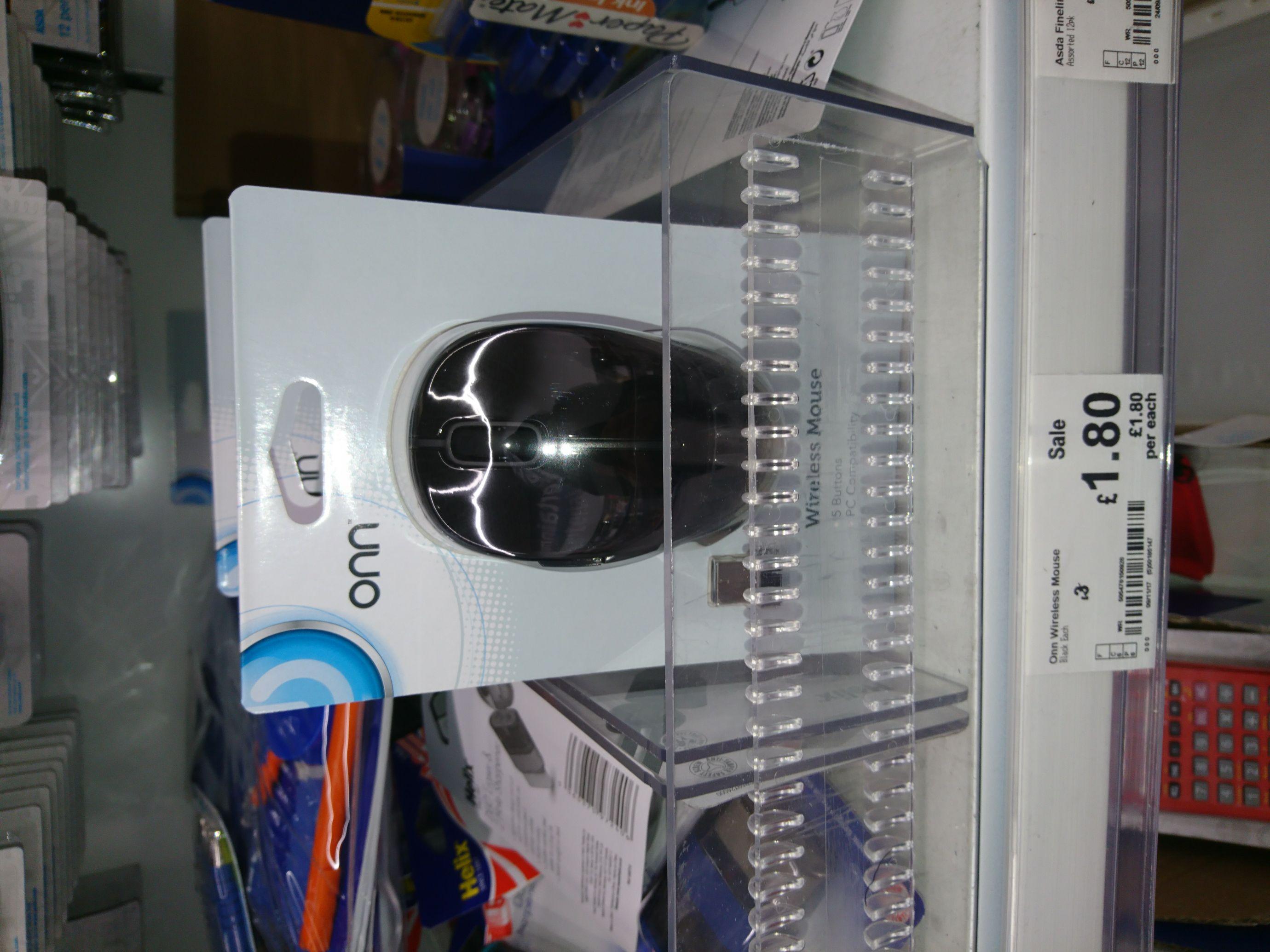 ONN 5 Button Wireless Mouse £1.80 instore @ Asda