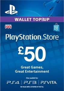 £50 UK PSN wallet topup £43.99 @ Electronic First