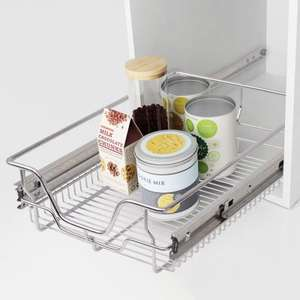 2x 400mm Pull Out Wire Baskets for Kitchen Cabinets - £30.99 delivered at VidaXL