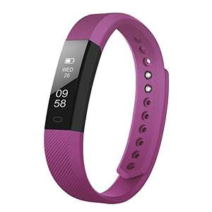 Upgrated Fitness Tracker Self-Timer Slim Smart Watch New Bracelet Bluetooth Call Reminder Calorie Counter Wireless Pedometer (Purple) £13.99 Prime Sold by MOXKINO and Fulfilled by Amazon.